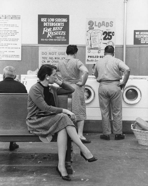 35-39 Years Poster featuring the photograph Impatient Washers by Winfield J. Parks Jr.