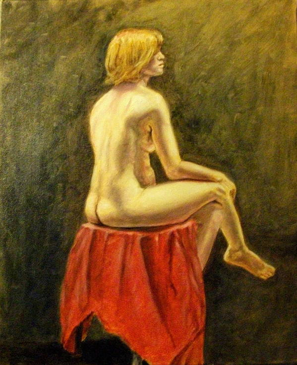 Nude Poster featuring the painting Impressionist Nude by Howard Bosler