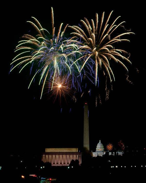 4th Of July Poster featuring the photograph Independence Day In Dc by David Hahn