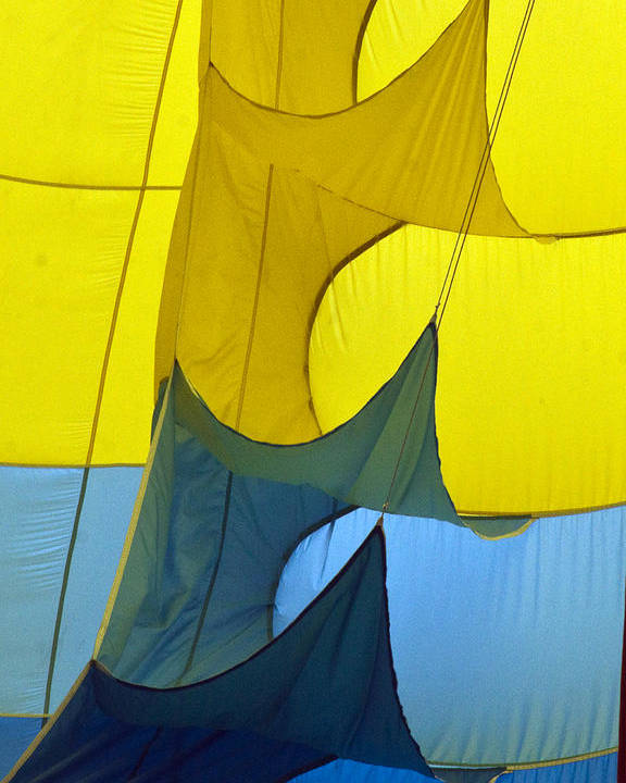 Yellow Poster featuring the photograph Inside The Balloon by Darleen Stry