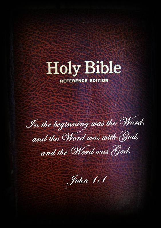 Bible Poster featuring the photograph Inspirations 17 John 1 V1 by Sara Raber