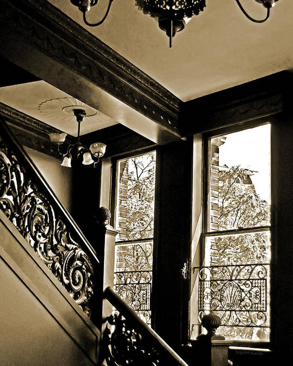 Stairway Poster featuring the photograph Interior Elegance Lost In Time by DigiArt Diaries by Vicky B Fuller