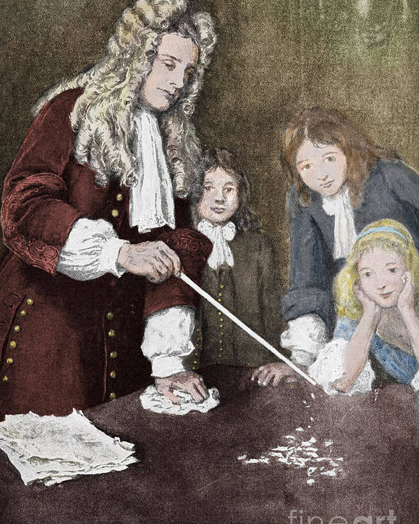 Science Poster featuring the photograph Isaac Newton, English Polymath by Science Source