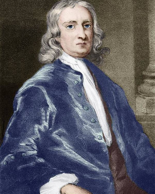 Isaac Newton Poster featuring the photograph Issac Newton, English Physicist by Sheila Terry