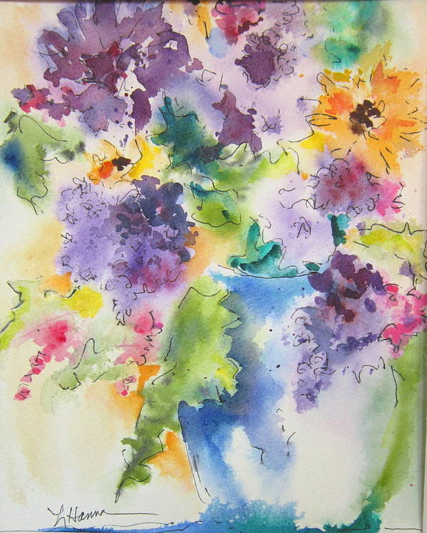 Floral Poster featuring the painting It Might As Well Be Spring by Linda Hanna