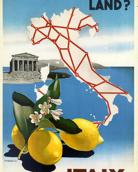 Italy Poster featuring the digital art Italy by Georgia Fowler