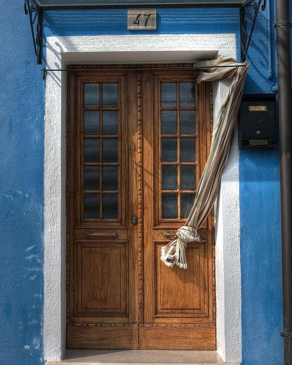 Burano Poster featuring the photograph Italy Old Door by Joana Kruse