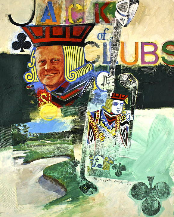 Acrylic Poster featuring the painting Jack Of Clubs 50-52 by Cliff Spohn
