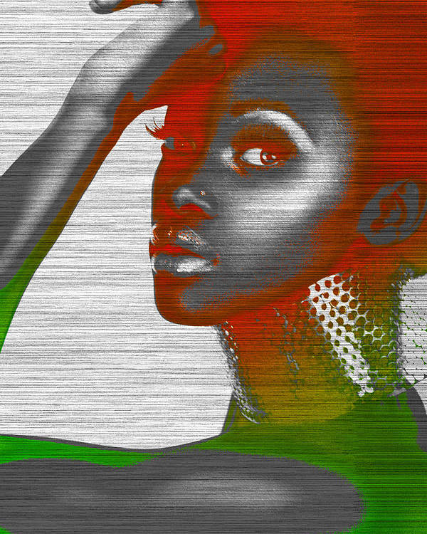 African Poster featuring the photograph Jada by Naxart Studio