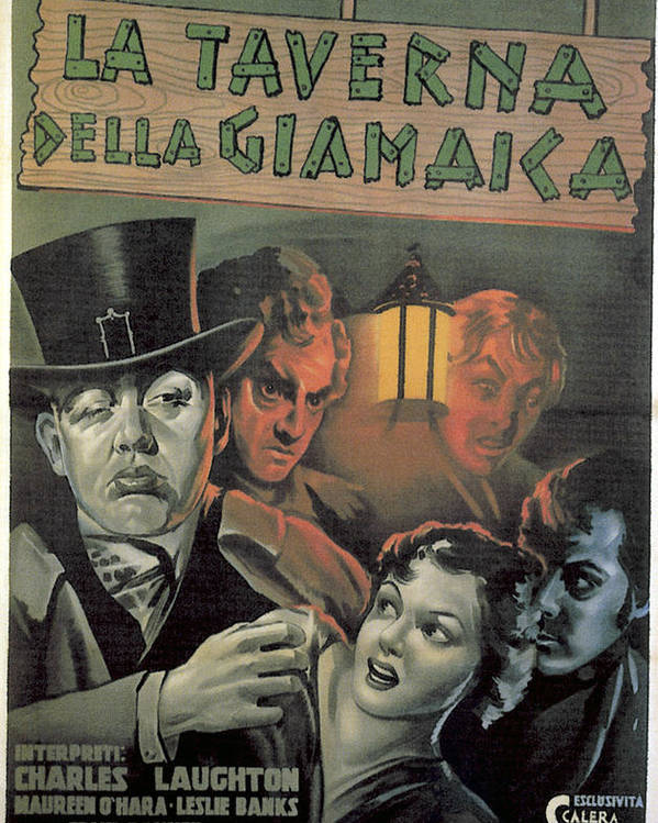 1930s Movies Poster featuring the photograph Jamaica Inn, Front From Left Charles by Everett