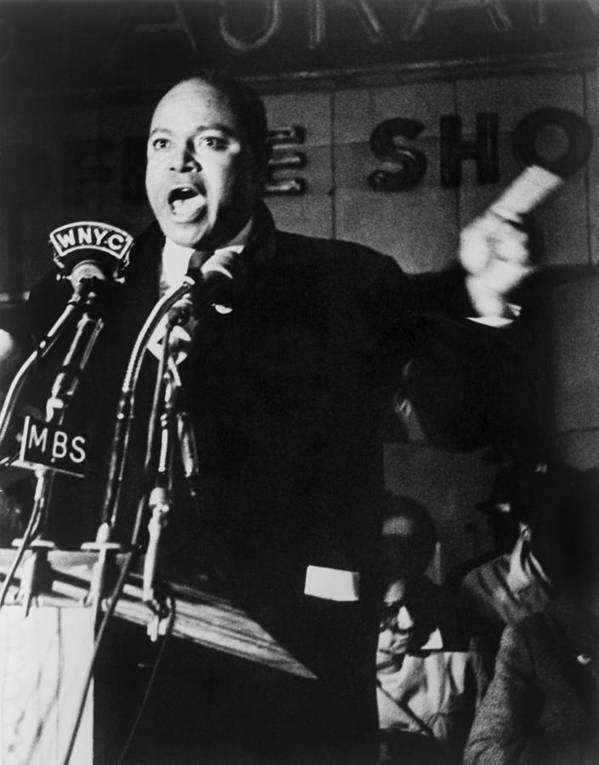 History Poster featuring the photograph James Farmer 1920-1999, Co-founder by Everett