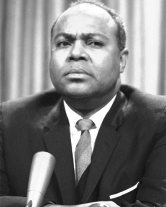 1964 Poster featuring the photograph James Farmer (1920-1999) by Granger