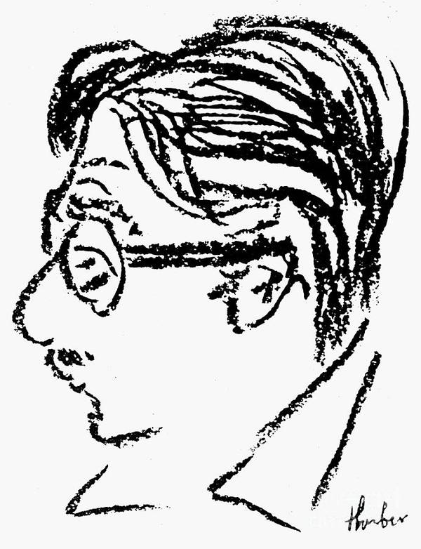 20th Century Poster featuring the photograph James Grover Thurber by Granger