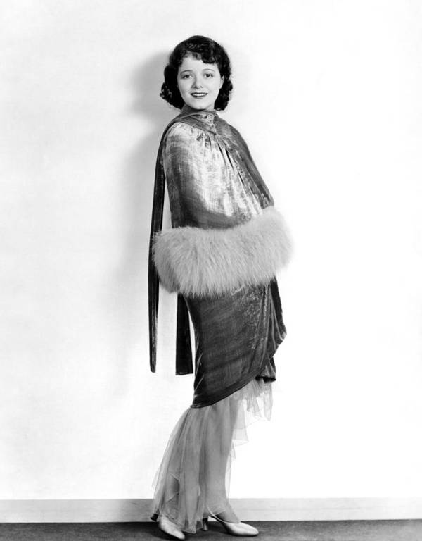 1920s Fashion Poster featuring the photograph Janet Gaynor, 1929 by Everett