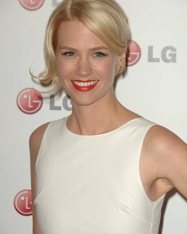 January Jones Poster featuring the photograph January Jones At Arrivals For A Night by Everett