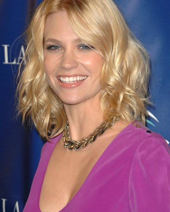 Janurary Jones Poster featuring the photograph January Jones At Arrivals For Oceanas by Everett