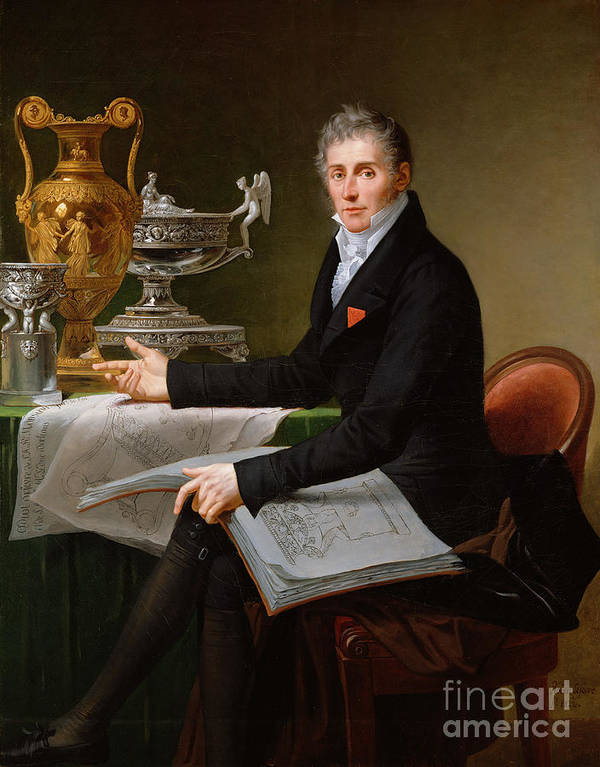 Jean-baptiste-claude Poster featuring the painting Jean-baptiste-claude Odiot by Robert Lefevre