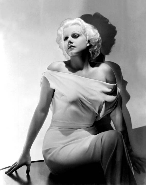 Bare Shoulder Poster featuring the photograph Jean Harlow by Everett