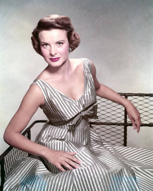 1950s Fashion Poster featuring the photograph Jean Peters, In The Film, A Man Called by Everett