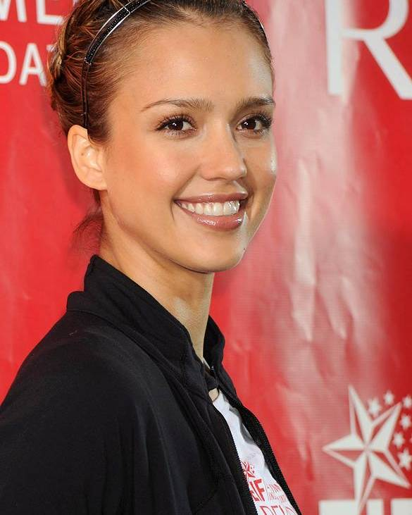 Jessica Alba Poster featuring the photograph Jessica Alba At A Public Appearance by Everett