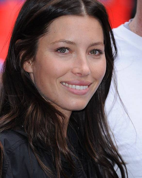 Jessica Biel Poster featuring the photograph Jessica Biel At A Public Appearance by Everett
