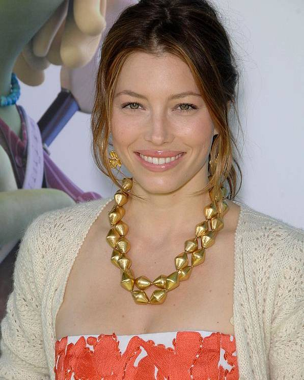 Jessica Biel Poster featuring the photograph Jessica Biel At Arrivals For Planet 51 by Everett