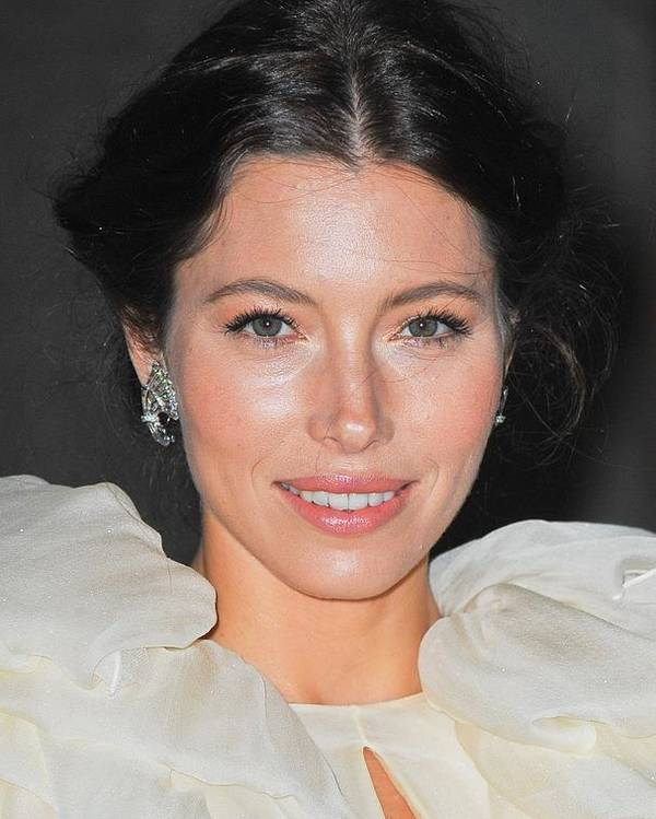 Jessica Biel Poster featuring the photograph Jessica Biel Wearing Fred Leighton by Everett