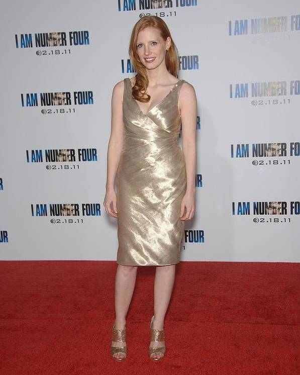 Jessica Chastain Poster featuring the photograph Jessica Chastain At Arrivals For I Am by Everett