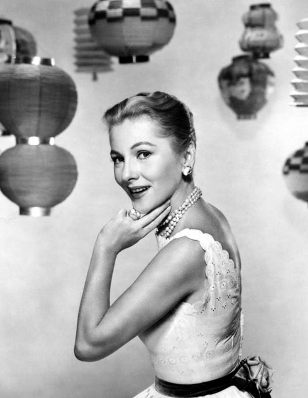 1950s Fashion Poster featuring the photograph Joan Fontaine, Mgm, 1957 by Everett