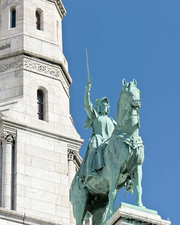 Joan Poster featuring the photograph Joan Of Arc Iv by Fabrizio Ruggeri