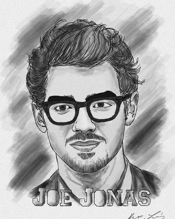 Joe Jonas Drawing Poster featuring the photograph Joe Jonas Drawing by Kenal Louis