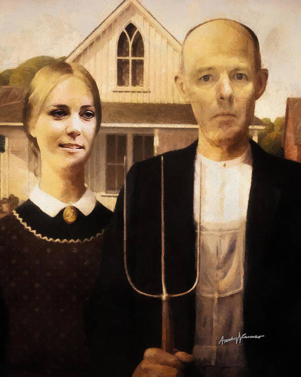 Imagination Poster featuring the mixed media John And Kate Plus Eight by Anthony Caruso