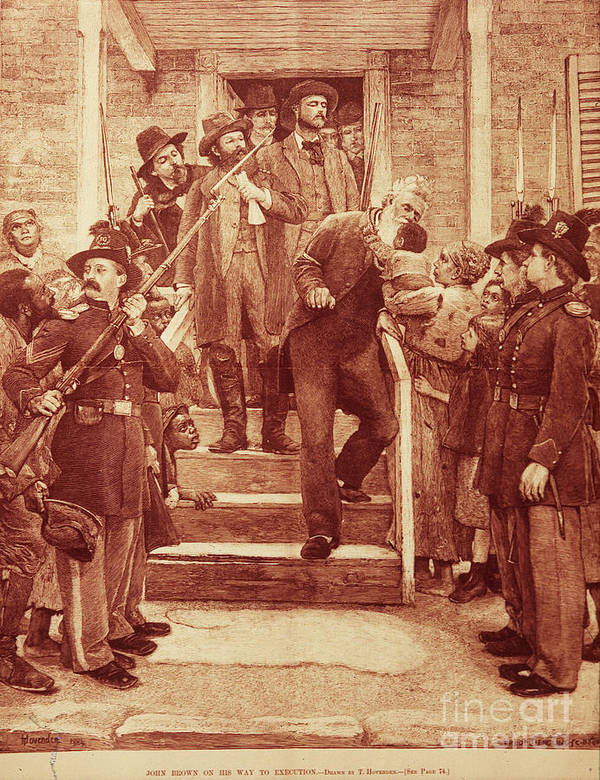1859 Poster featuring the photograph John Brown: Execution by Granger