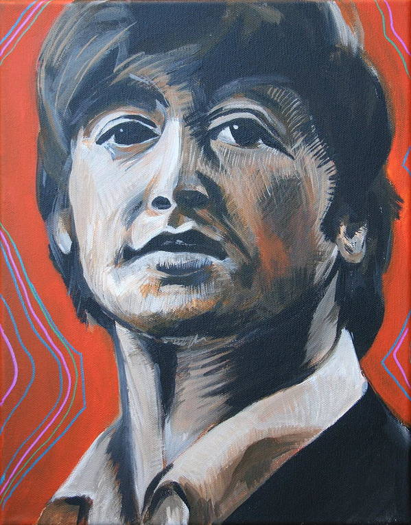 Beatles Poster featuring the painting John Lennon by Kate Fortin