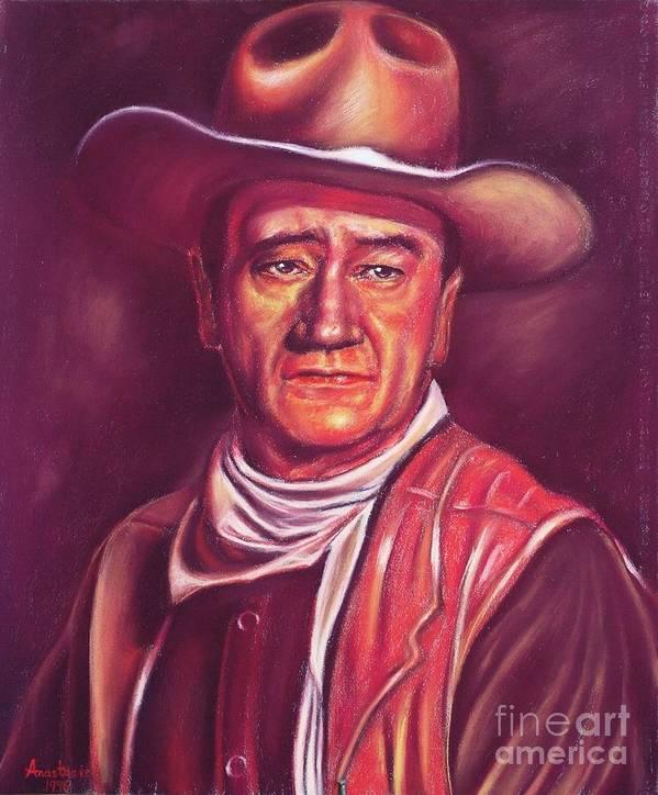 Marion Mitchell Morrison (born Marion Robert Morrison; May 26 Poster featuring the painting John Wayne by Anastasis Anastasi