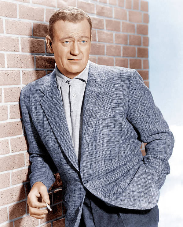 1950s Portraits Poster featuring the photograph John Wayne, Ca. 1955 by Everett