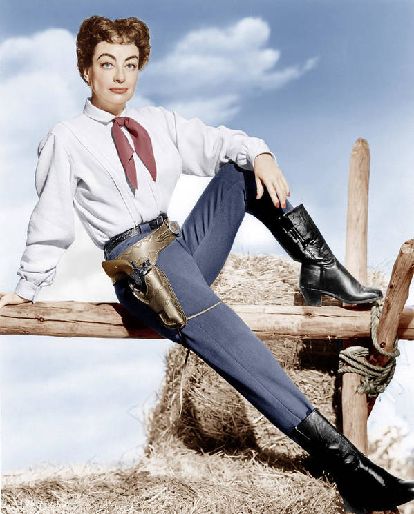 1950s Portraits Poster featuring the photograph Johnny Guitar, Joan Crawford, 1954 by Everett