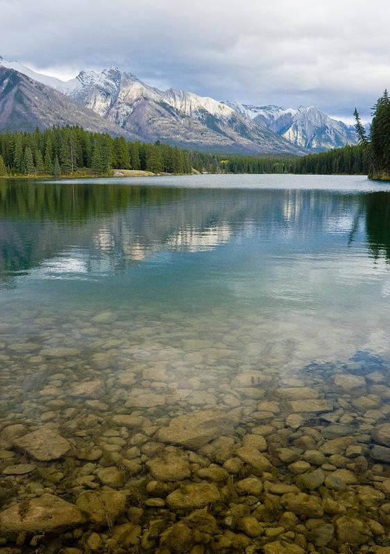 Johnson Lake Poster featuring the photograph Johnson Lake Rocks by Adam Pender