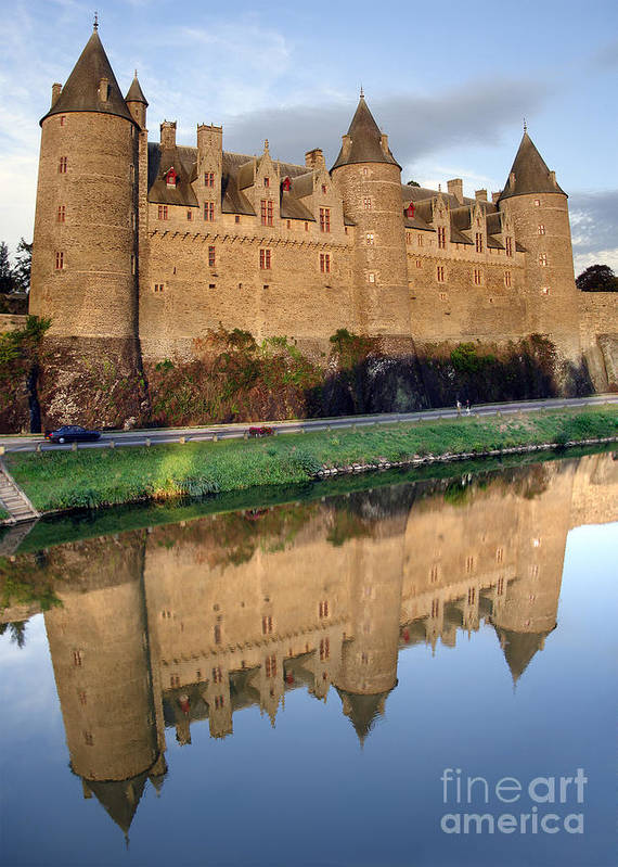 Ancient Poster featuring the photograph Josselin Chateau by Jane Rix