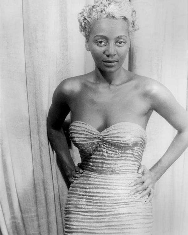 1950s Poster featuring the photograph Joyce Bryant, African American Singer by Everett