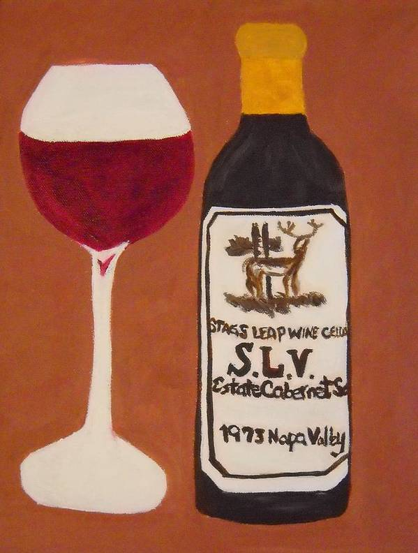 Wine Poster featuring the painting Judgement Of Paris 2 by Kathleen Fitzpatrick