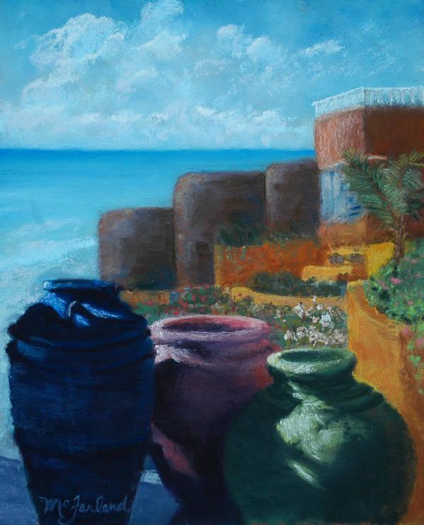 Crocks Poster featuring the pastel Juju Jars - Cancun by Lorraine McFarland
