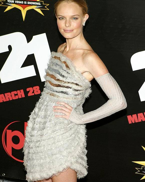 The Premiere Of Columbia Pictures'' 21 Poster featuring the photograph Kate Bosworth Wearing A Chanel Couture by Everett