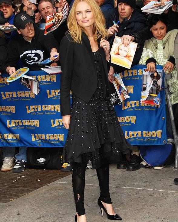 Tues - The Late Show With David Letterman Poster featuring the photograph Kate Bosworth Wearing A Chloe Dress by Everett