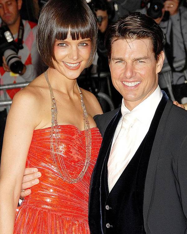 Annual Opening Night Gala Of Superheroes Fashion And Fantasy Poster featuring the photograph Katie Holmes Wearing A Boucheron by Everett