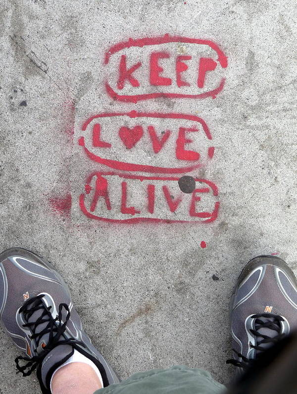 Keep Love Alive Poster featuring the photograph Keep Love Alive by Jeff Lowe