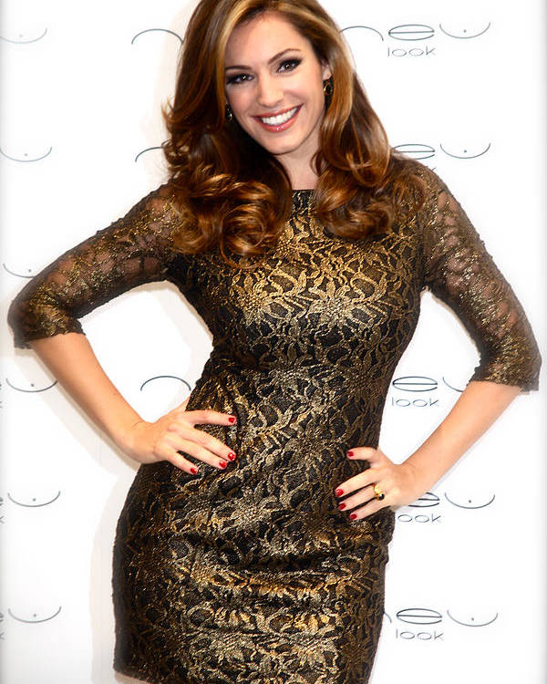 Jezcself Poster featuring the photograph Kelly Brook 3 by Jez C Self