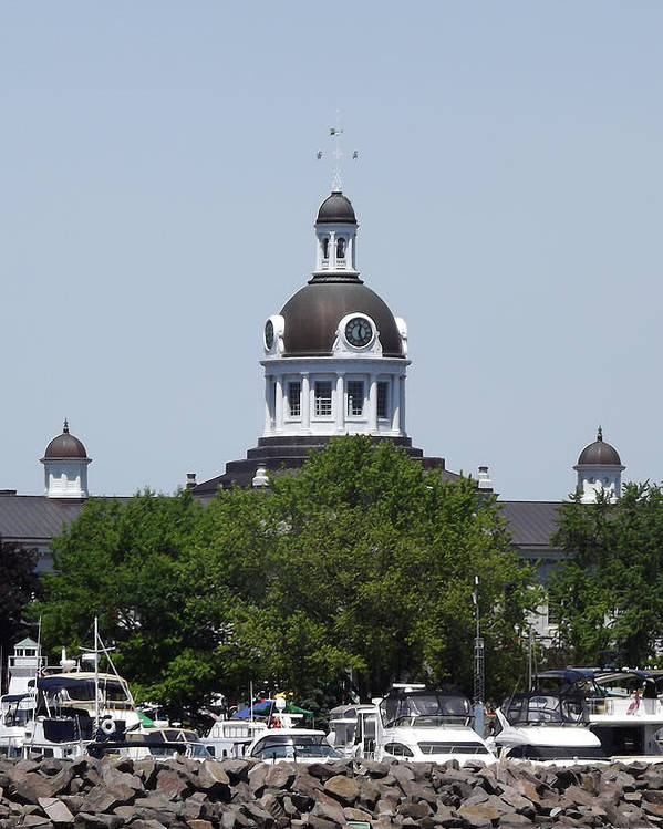 City Hall Poster featuring the photograph Kingston City Hall by Jim Beattie