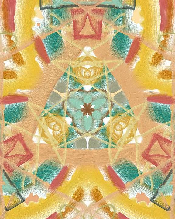 Abstract Poster featuring the digital art Klydie by Mark Stidham