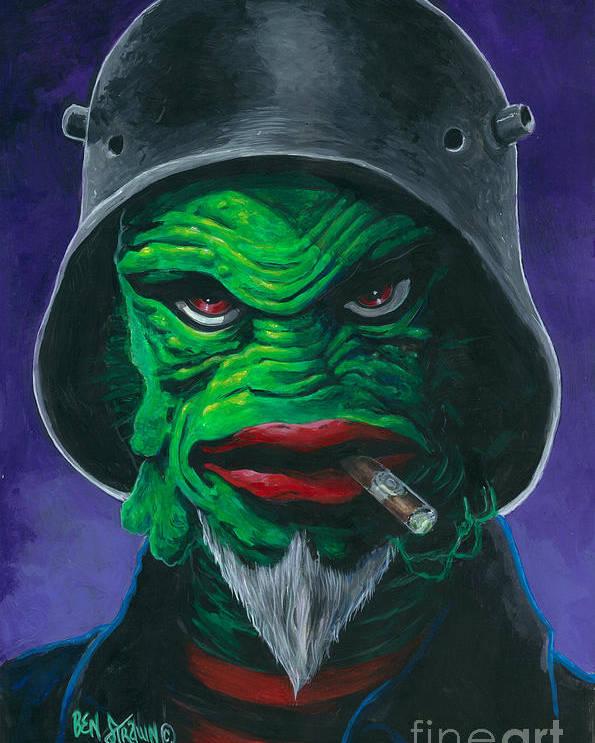Ben Von Strawn Poster featuring the painting Kreetcha by Ben Von Strawn